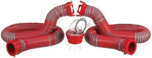 Sewer hoses w/ clear elbow attachment