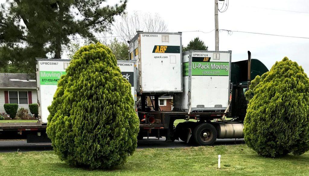 upack on truck
